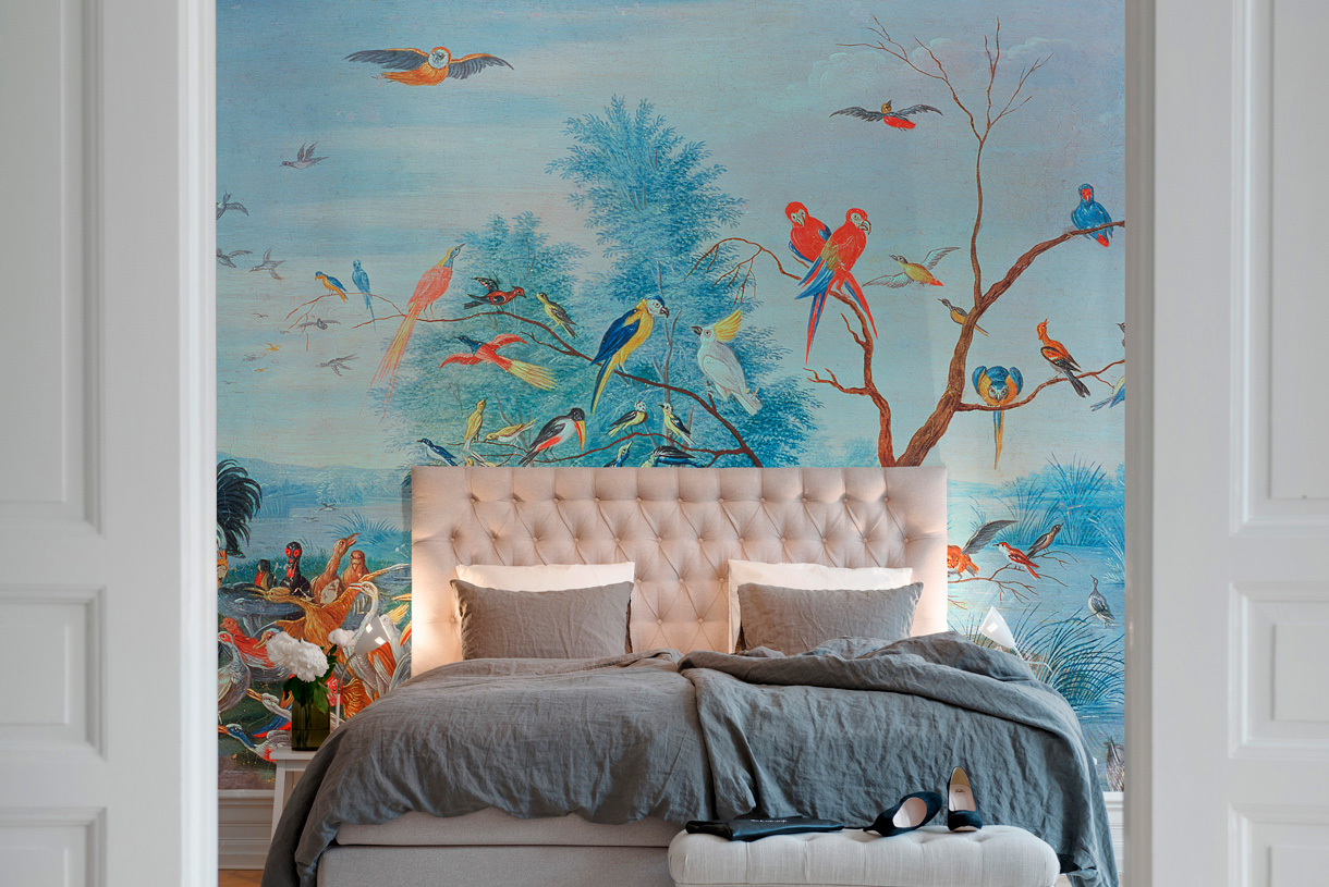 nouveaux papiers peints les animaux d corent les murs maison cr ative. Black Bedroom Furniture Sets. Home Design Ideas