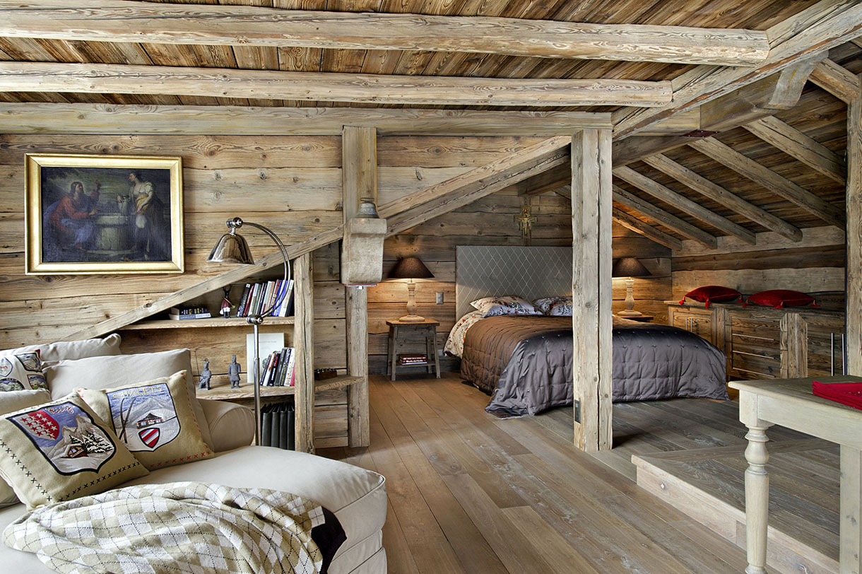 en suisse un chalet authentique et tout confort maison cr ative. Black Bedroom Furniture Sets. Home Design Ideas