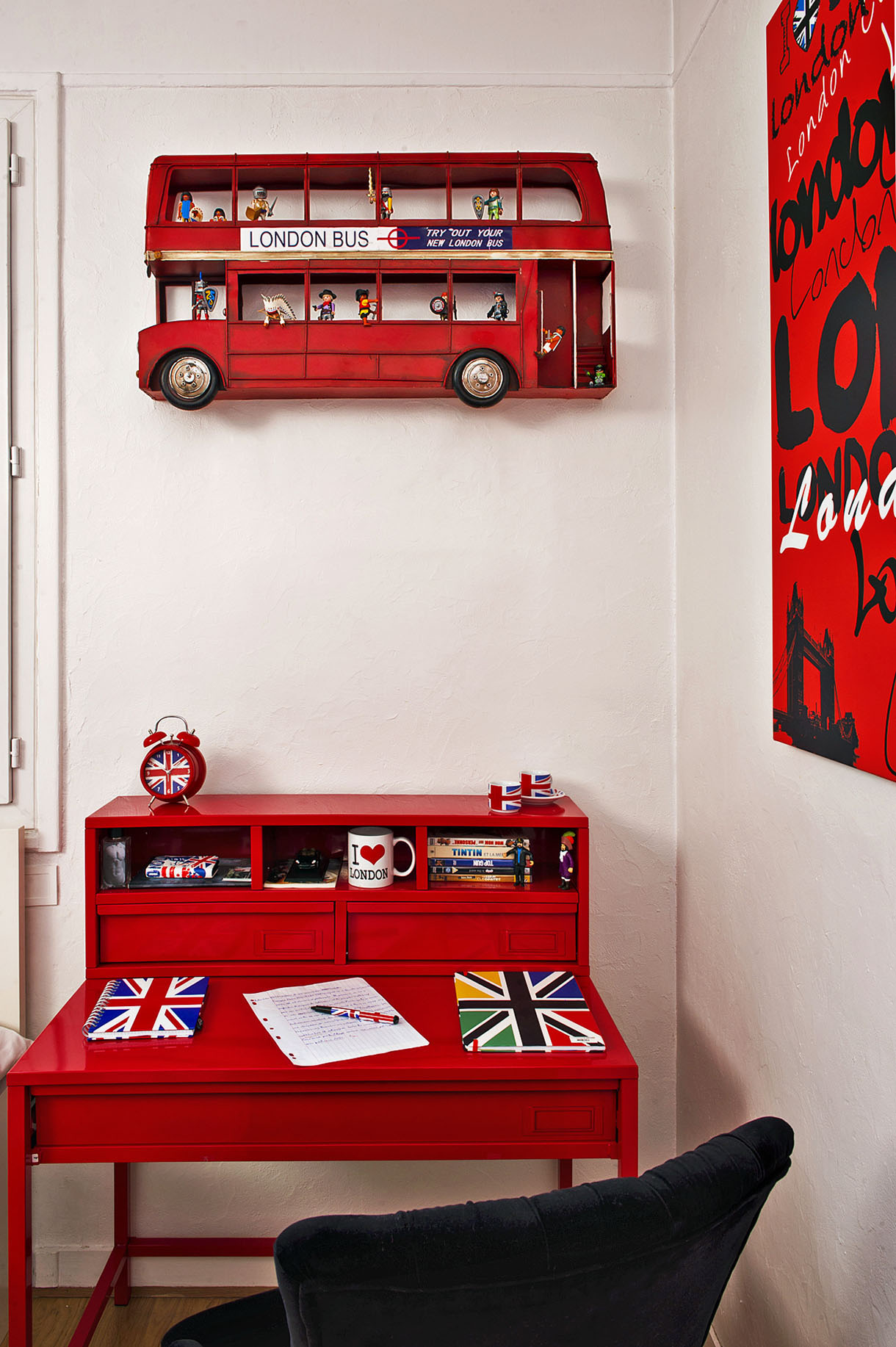 Une chambre d 39 ado made in london maison cr ative for Decoration chambre london