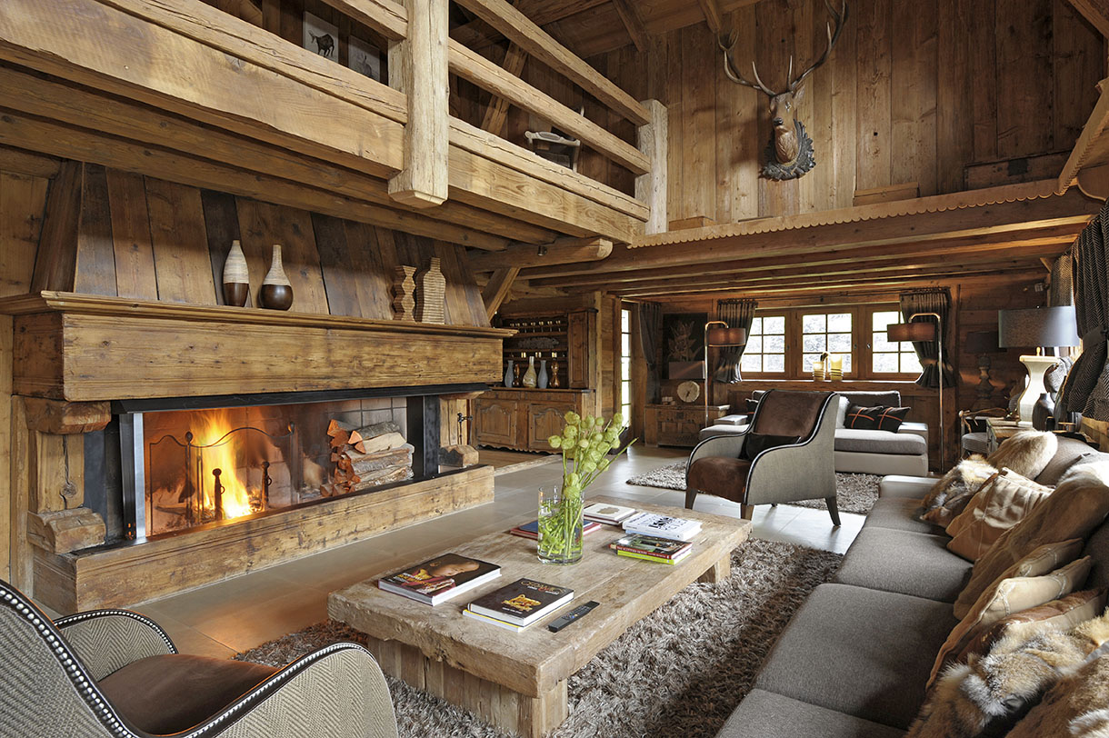7 id es de d co d int rieur pour chalet en bois. Black Bedroom Furniture Sets. Home Design Ideas
