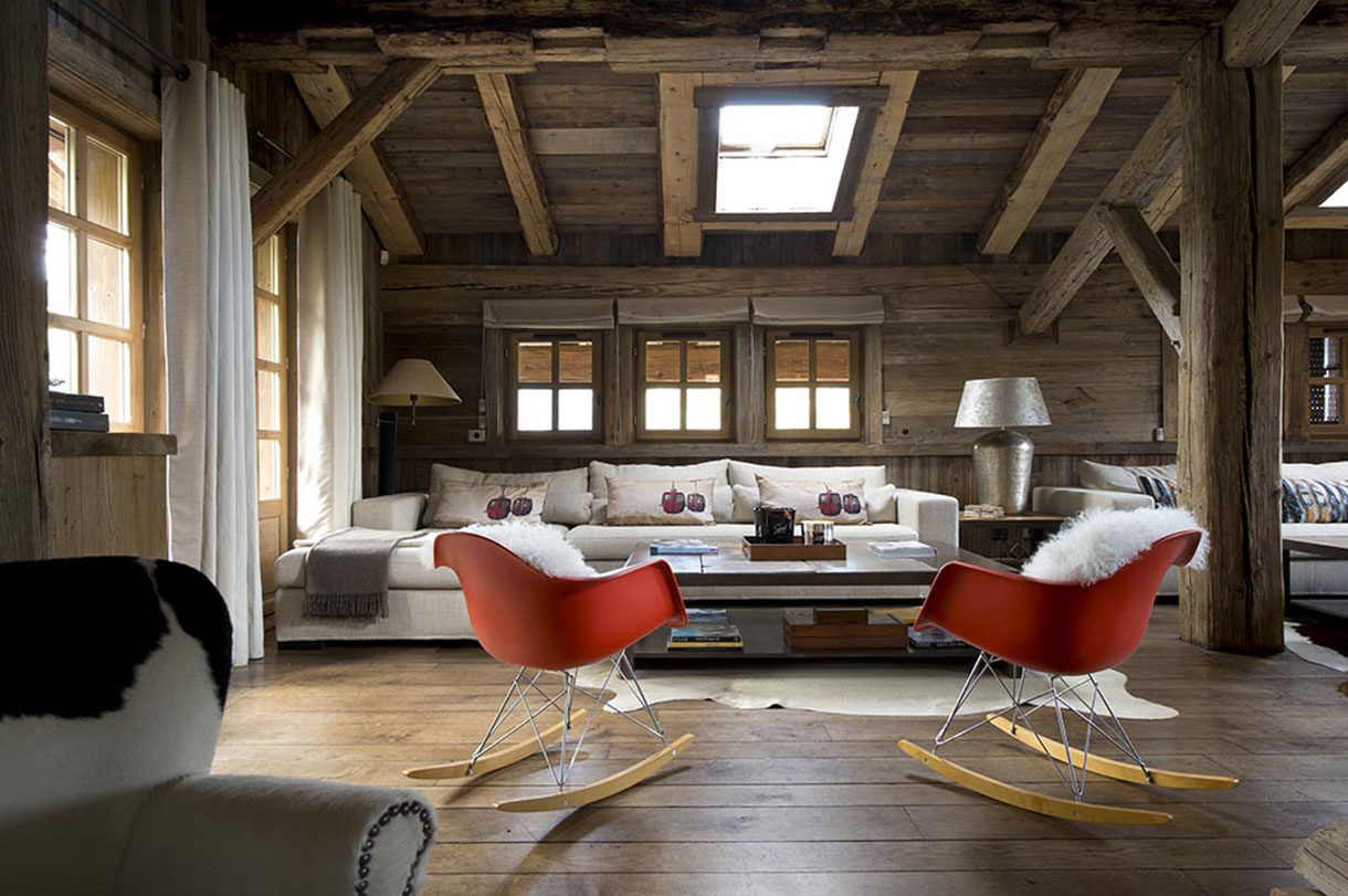 Le design r invente le chalet de montagne maison cr ative for Table de salon ancienne