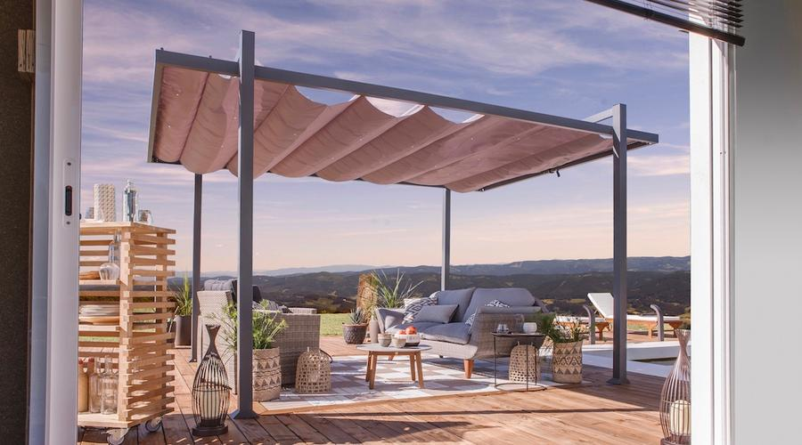 tonnelle aluminium leroy merlin good pergola bois leroy merlin se protger du soleil parasols. Black Bedroom Furniture Sets. Home Design Ideas