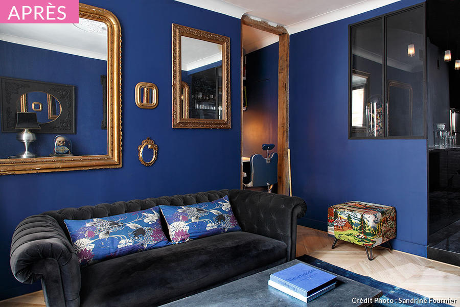 Idee salon bleu ciel for Salon deco bleu