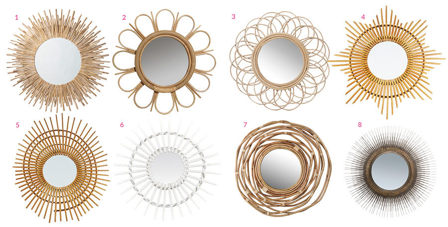 beautiful idee deco avec miroir rond photos awesome