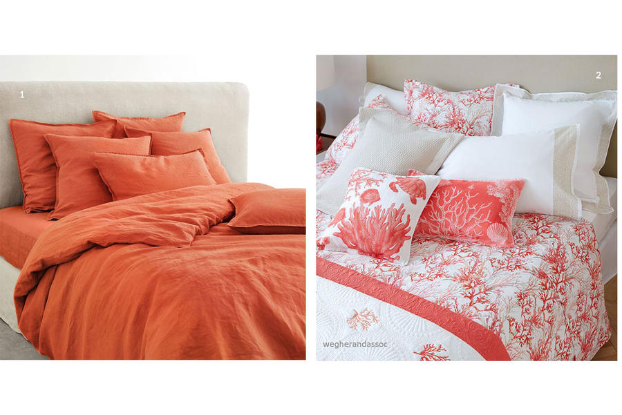 couleur corail l int grer sa d co salon cuisine. Black Bedroom Furniture Sets. Home Design Ideas