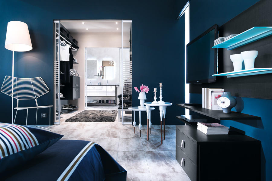 deco chambre parentale bleu. Black Bedroom Furniture Sets. Home Design Ideas
