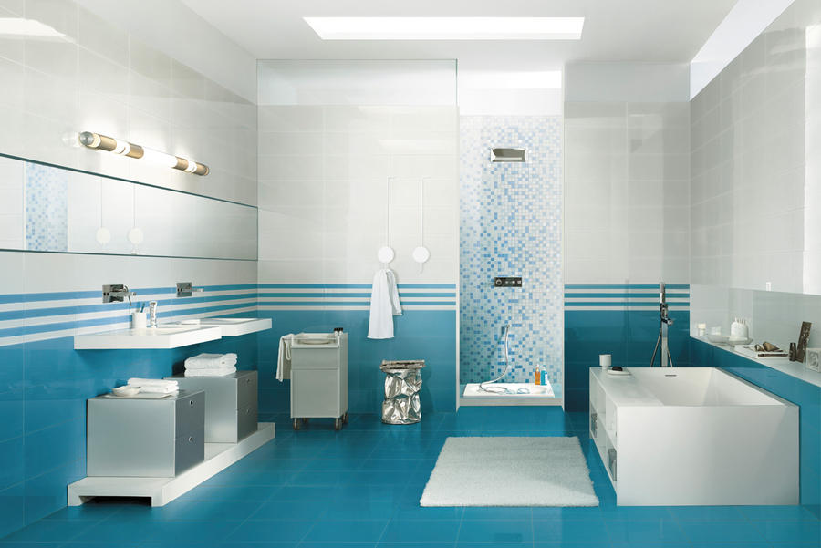 beautiful faience bleue salle de bain photos - design trends 2017 ... - Salle De Bain En Bleu