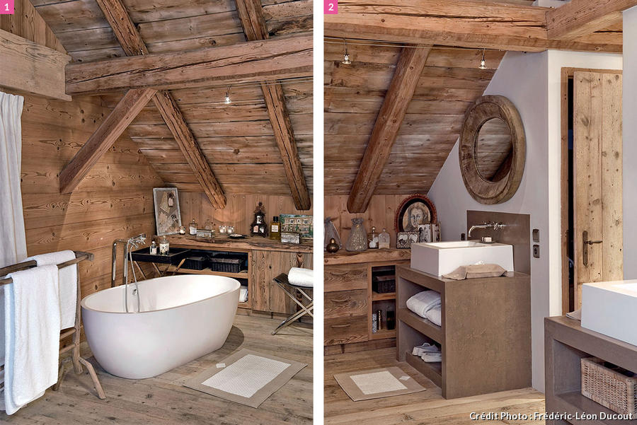 Beautiful Salle De Bain Chalet Savoyard Pictures - House Design ...