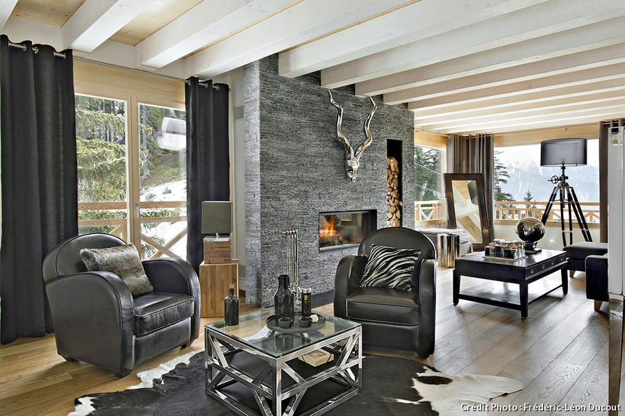 un chalet contemporain dans les sommets alpins maison. Black Bedroom Furniture Sets. Home Design Ideas