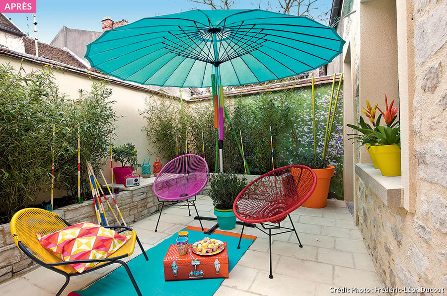 Quatre id es d co pour am nager votre terrasse maison - Appartement au design traditionnel moderne colore ...