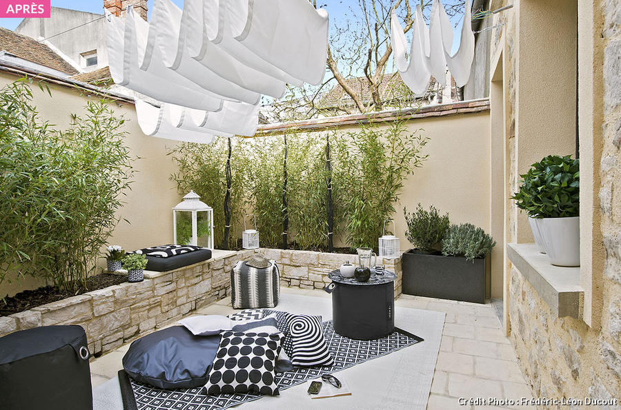 D co terrasse 15m2 for Idee deco salon 15m2