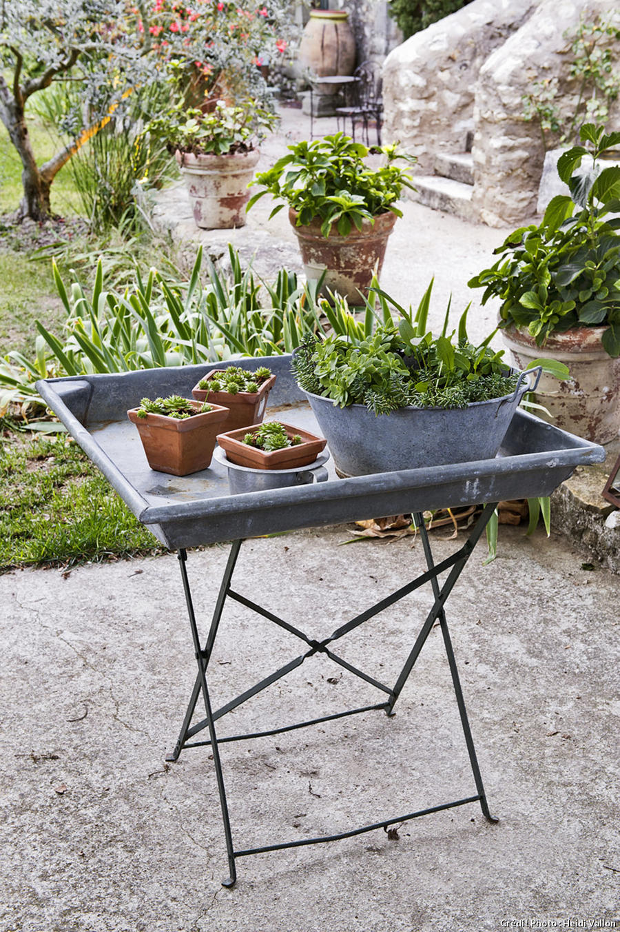 Petite table de jardin en zinc table de jardin cm pliante for Vente table de jardin