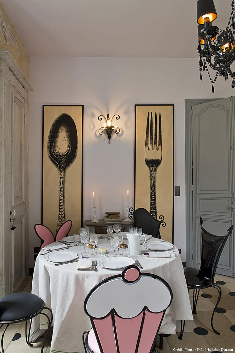 Coin repas de la maison de Chantal Thomass
