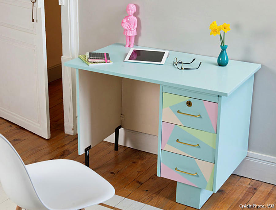 redonner vie un bureau avec des couleurs pastels comment faire. Black Bedroom Furniture Sets. Home Design Ideas