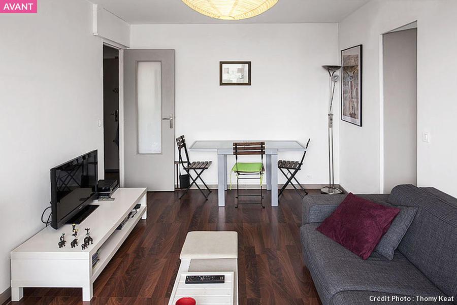 Avant apr s m tamorphoser un petit salon maison cr ative for Amenagement interieur petit espace