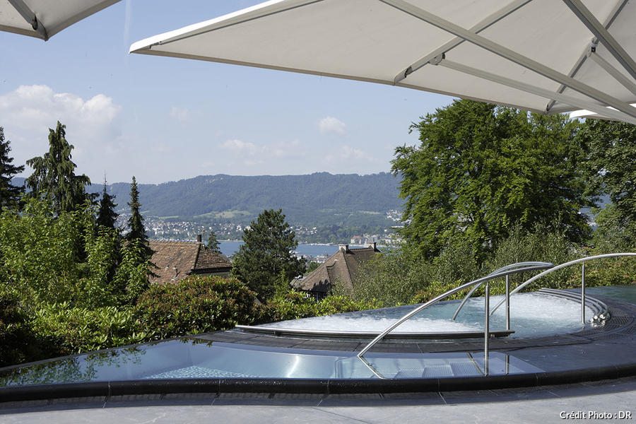 The dolder grand spa avec vue maison cr ative for Terrace zurich