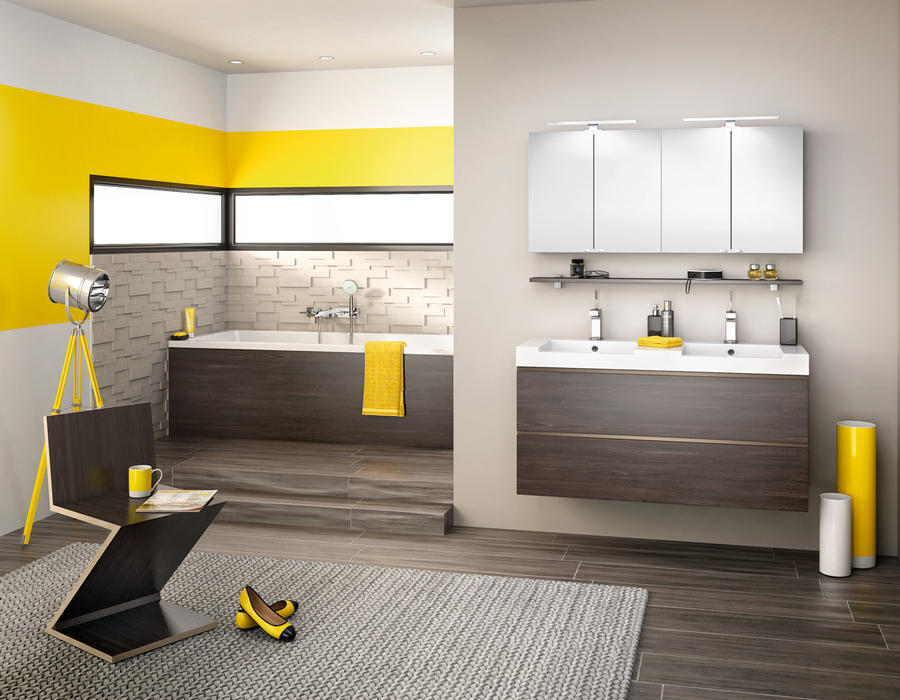 le jaune habille les murs maison cr ative. Black Bedroom Furniture Sets. Home Design Ideas
