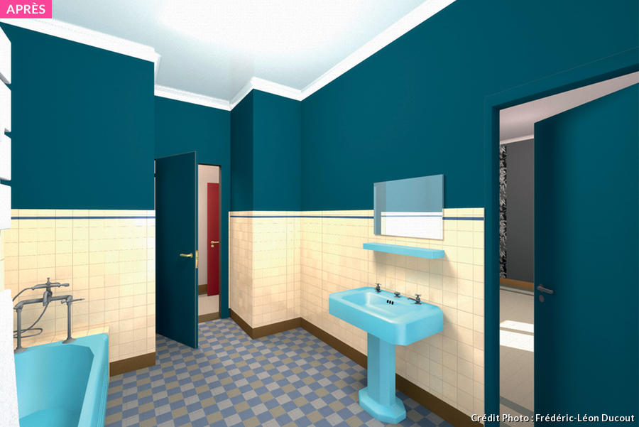 Salle De Bain Retro Photo Maison Design