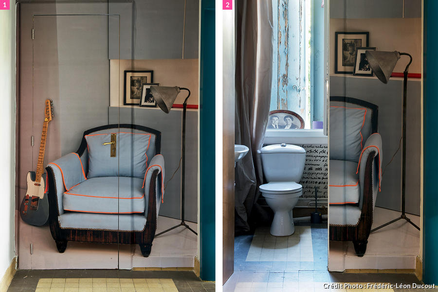 r nover et transformer des toilettes en un boudoir insolite. Black Bedroom Furniture Sets. Home Design Ideas