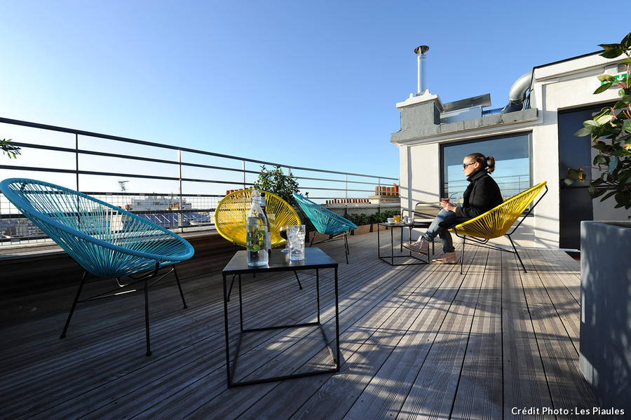Terrasse rooftop aux Piaules