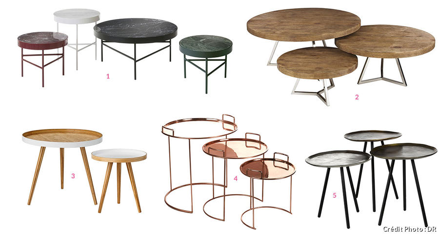 Table basse gigogne pas cher - Tables basses rondes ...