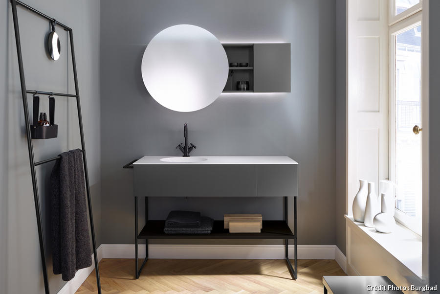 salle de bain miroir rond ds58 jornalagora. Black Bedroom Furniture Sets. Home Design Ideas
