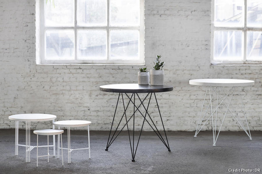 Collection Serax de tables en Terrazzo