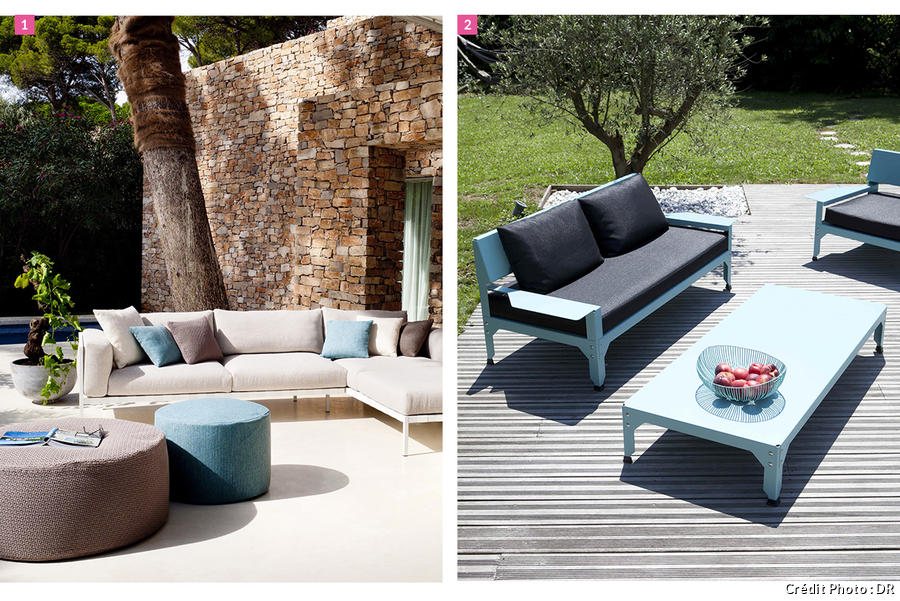 Salon jardin confortable
