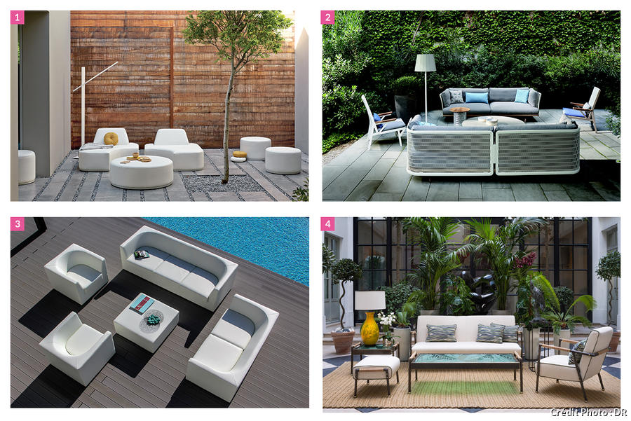 Salon de jardin confortable