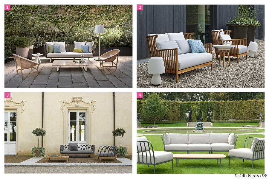 Salon de jardin design id es salon de jardin confortable - Les plus beaux canapes ...