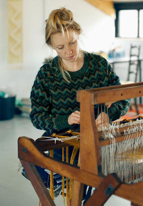 Passion tissage : Justine Ashbee, Native Line