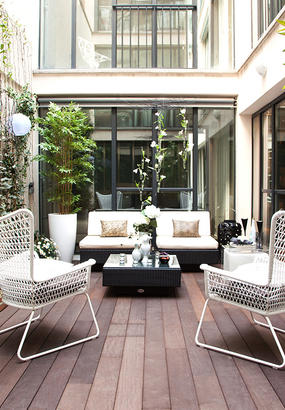 cr er une terrasse d 39 inspiration marocaine d tente jardin. Black Bedroom Furniture Sets. Home Design Ideas