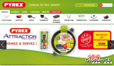 Screenshot du site Pyrex